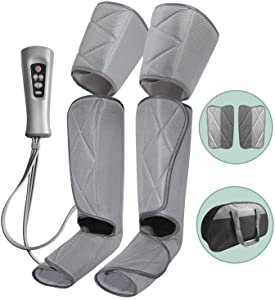 Leg Massager for Circulation - Foot and Calf Massager Air Compression Leg & Thigh Wraps Massage Boots Machine for Home Use Relaxation with Controller