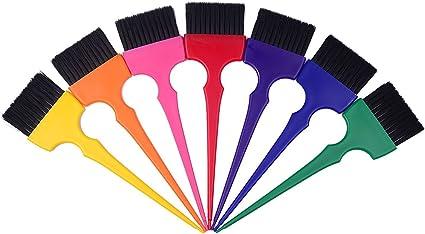 Kit de cepillos para tinte, pincel aplicador de tinte, Set de 7 colores