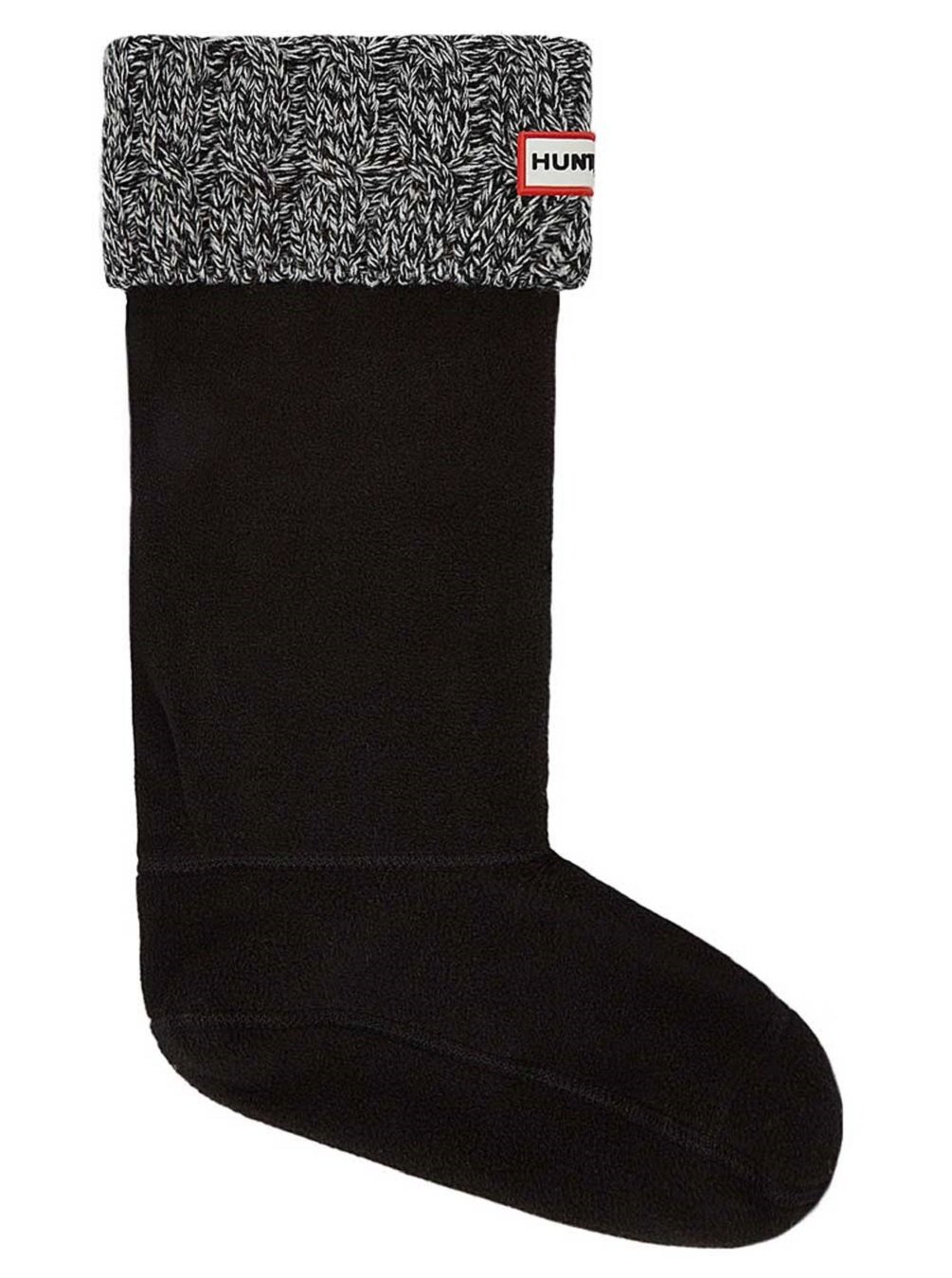 Hunter Boots Women's 6 Stitch Cable Boot Sock Blk/Gry LG M US