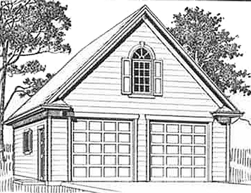 Amazon Com Garage Plans Colonial Style 2 Car Suv Sized Garage