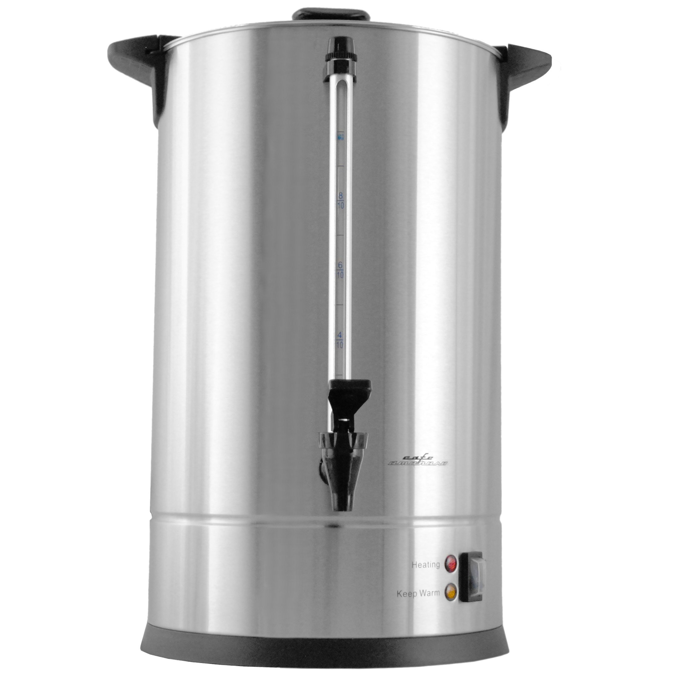 Cafe Amoroso 50 Cup Stainless Steel Coffee Maker Urn - Premium Commercial Double Wall Design - Perfect For Catering, Churches, Banquets, Restaurants - 1 Year Warranty (50 Cup)