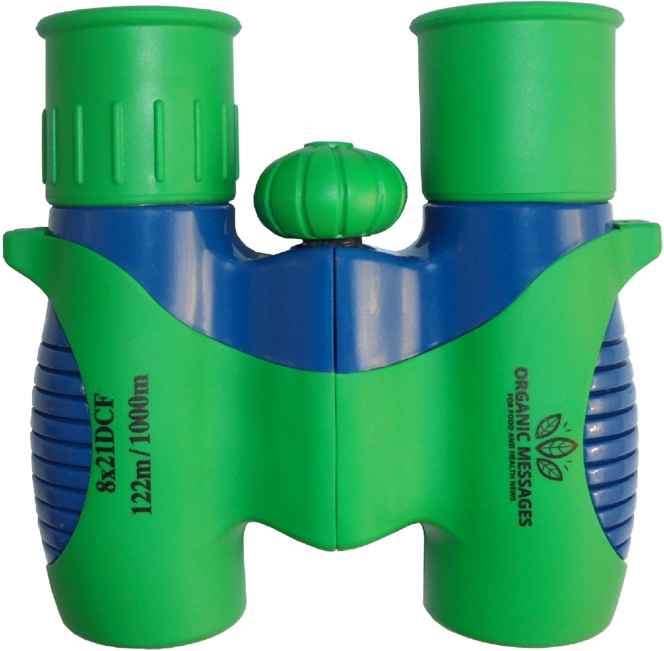 Kid Binoculars set by Organic Messages Shock Proof green Real 8x21 lenses High Resolution Optics, best fun Birthday Present kids outdoor Toys for Boy or Girl Sport Events Theater BirdWatching opera