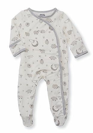 a817b4c445 Amazon.com  Mud Pie Unisex Counting Sheep Kimono Footed Sleeper (Infant)   Clothing