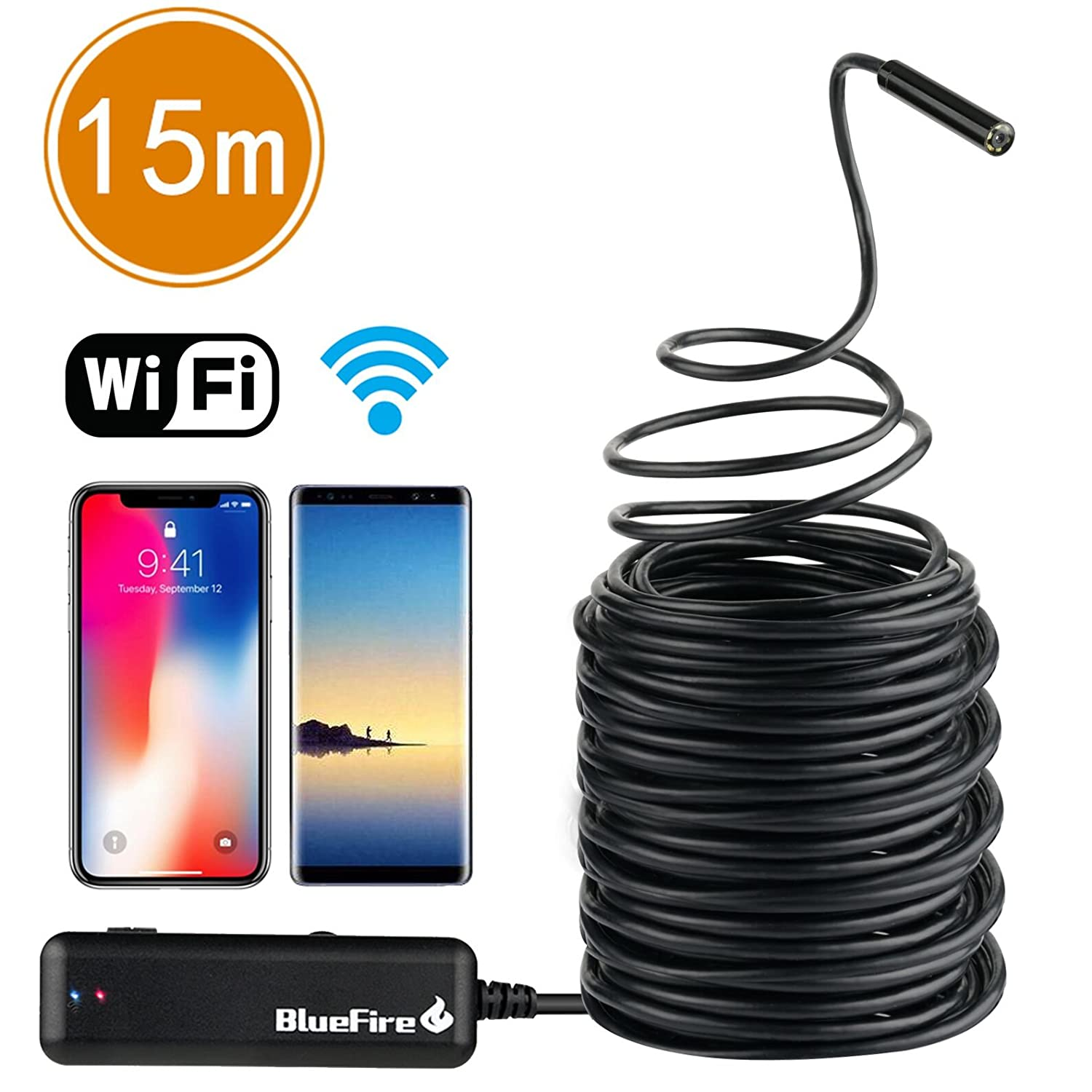 2-5-10m Red 2-in-1 Android Endoscope Camera Connector Android Borescope Inspection Camera For Car Repairing Pipe Examine Pc To Be Distributed All Over The World Security & Protection