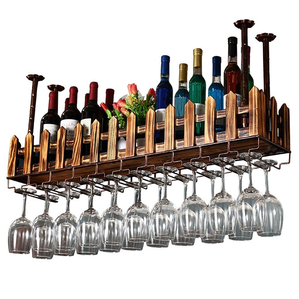 ワインラック ワイングラスラック、シェルフワイングラスホルダー、ワイングラスラック、ワイングラスラック、シャンパングラスラック、ガラス器具ラック (サイズ さいず : 60*20cm) B07CZNHST2   60*20cm