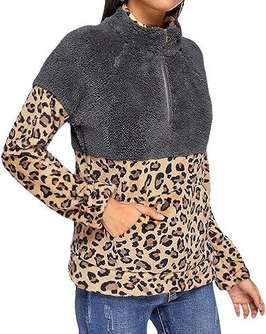 Winwinus Women Fashion Floral Printed Pullover Fleece Long-Sleeve Hood Outwear