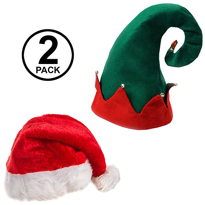 d892f1381dd Santa Hats - Christmas Hats - Elf Hat With Bells - Christmas Party Hats - (