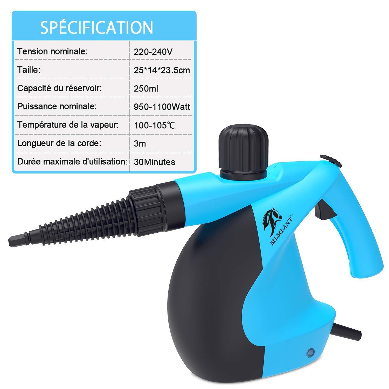 MLMLANT dampfreiniger Mehrzweck- Wassertank mit Handdampfreiniger f/ür Fleckenentfernung Bettwanzen-Steuerung Autositze Teppiche Vorh/änge