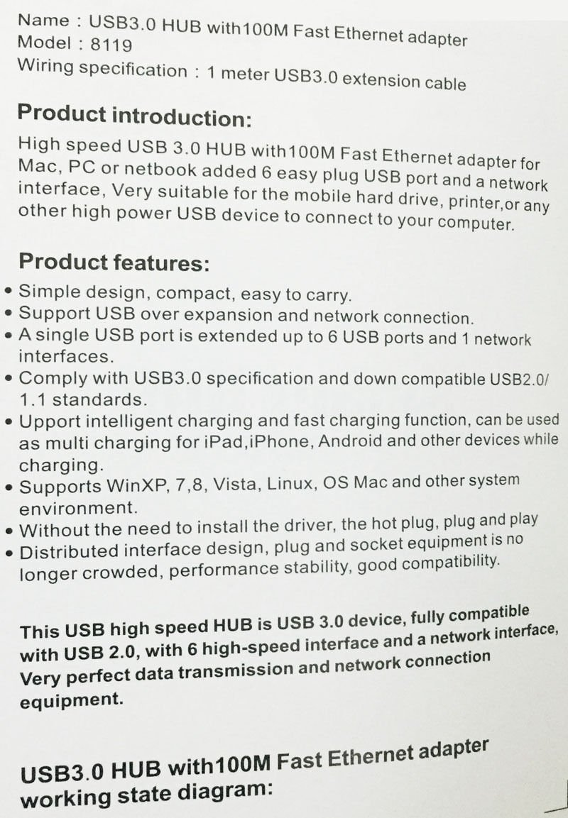 Powered Usb Hub Circuit Diagram Universal 6 Ports 30 100m Fast Ethernet Adapter Smart Hubs Extension Cable For Macbook Computer Laptop Notebook Pc Computers