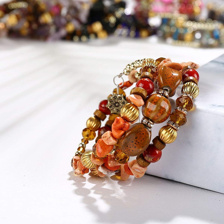 AMDXD Jewelry Bracelets for Women Silver Geometric Punk Bracelet for Women