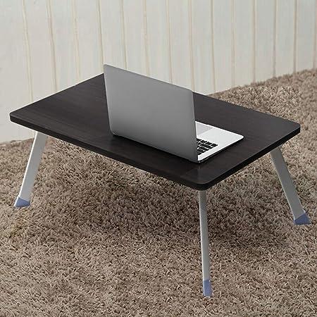 YUN-X Mesa para Laptop, Mesa pequeña Perezosa Plegable, Escritorio ...