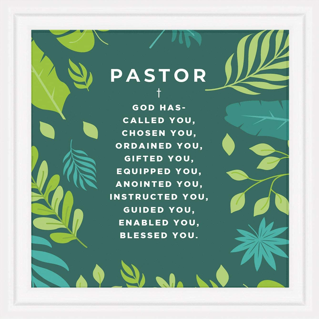 Gifts for Pastors | 7x7 Tile Artwork Ideal for Pastor | Christian Men Appreciation Gift | Special for Preachers | New or Retired Church Minister Presents | Great for Home or Church Office Decor