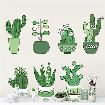 Pastorale Pflanze Kaktus Wandaufkleber Schlafzimmer Schlafzimmer ...