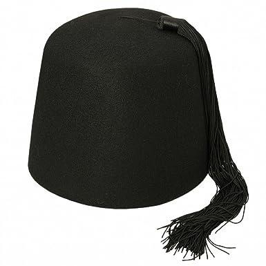 Village Hats Black Fez with Black Tassel  Amazon.co.uk  Clothing 900160683d8