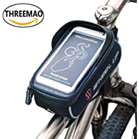 THREEMAO Cycling Front Frame Waterproof Bag Mobile Phone Holder