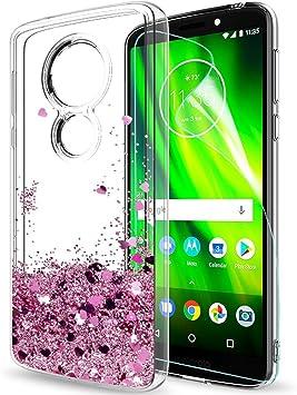 LeYi Funda Motorola Moto G6 Play / E5 Silicona Purpurina Carcasa ...