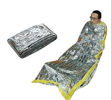 maaryee emergencia saco de dormir portátil Camping senderismo bolsa de dormir aislamiento tiendas de campaña al aire libre manta de salvamento: Amazon.es: ...