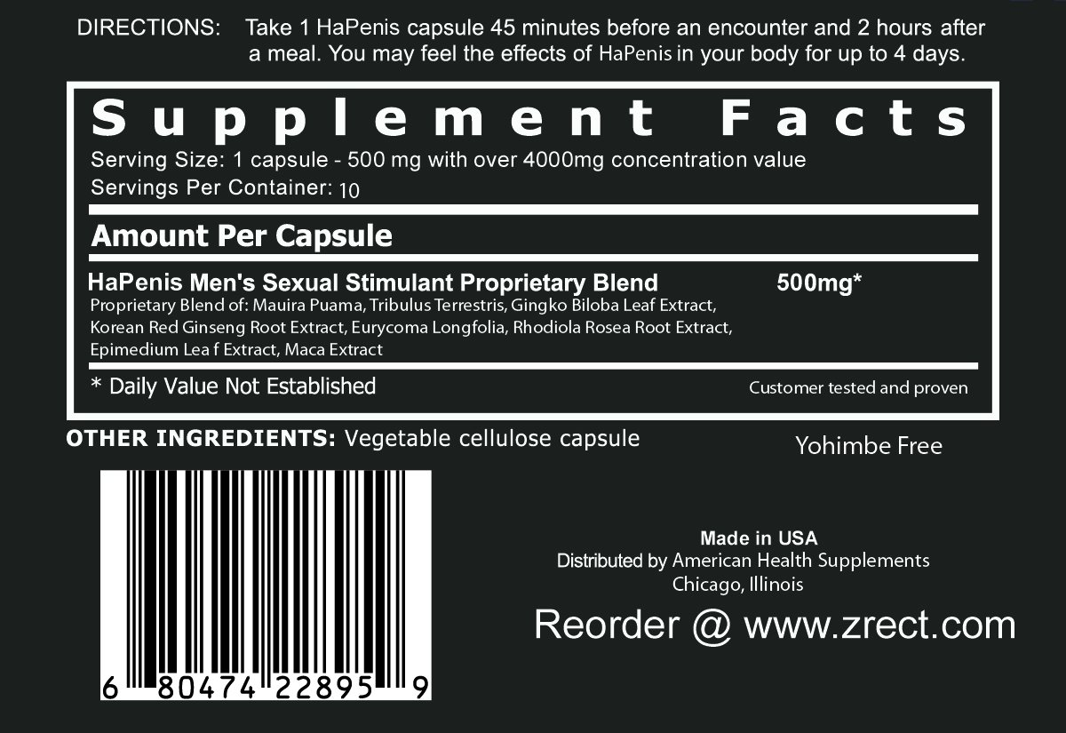 HAPENIS, The STRONGEST MALE ENHANCEMENT PILL (RED PILL) from the makers of XtraHRD (10)