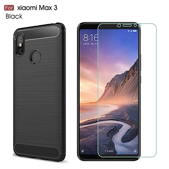 best service 26502 632d8 Xiaomi Mi Max 3 case,with Xiaomi Mi Max 3 Screen Protector. MYLB (2 in  1)[Scratch Resistant Anti-Fall] Fashion Soft TPU Shockproof Case with  Xiaomi Mi ...