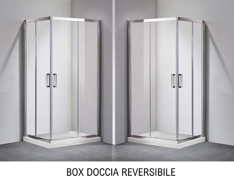 Olimpo - Mampara de ducha para primer precio, H195, 6 mm, 70, 75, 80, 90, 100 y 120, transparente: Amazon.es: Hogar