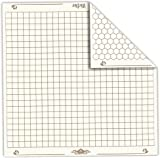 "26"" x 26"" Role Playing Reversible Vinyl Gaming Mat: Melee Mat with 1"" Squares and Hexes by Wiz Dice"