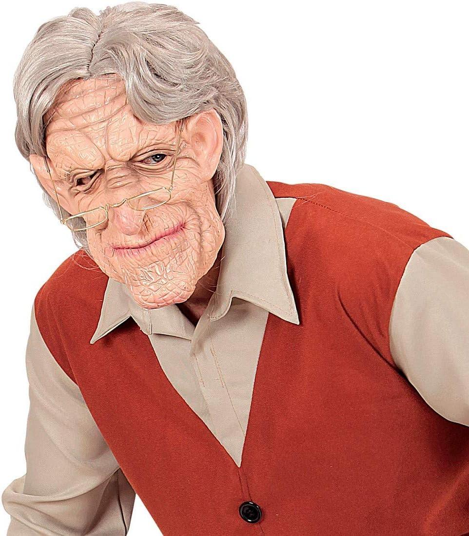 Amakando Original máscara de Carnaval Hombre Viejo con pelos ...