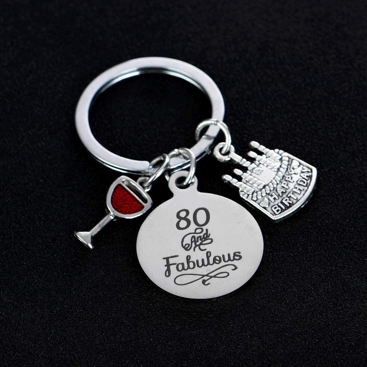 Birthday Gifts Live Laugh Love Birthday Keychains for Women Girls Inspirational Gifts for Friends Female 13th Birthday