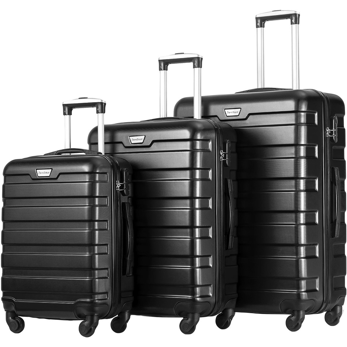 Merax Travelhouse Luggage 3 Piece Luggage Set Suitcase by Merax