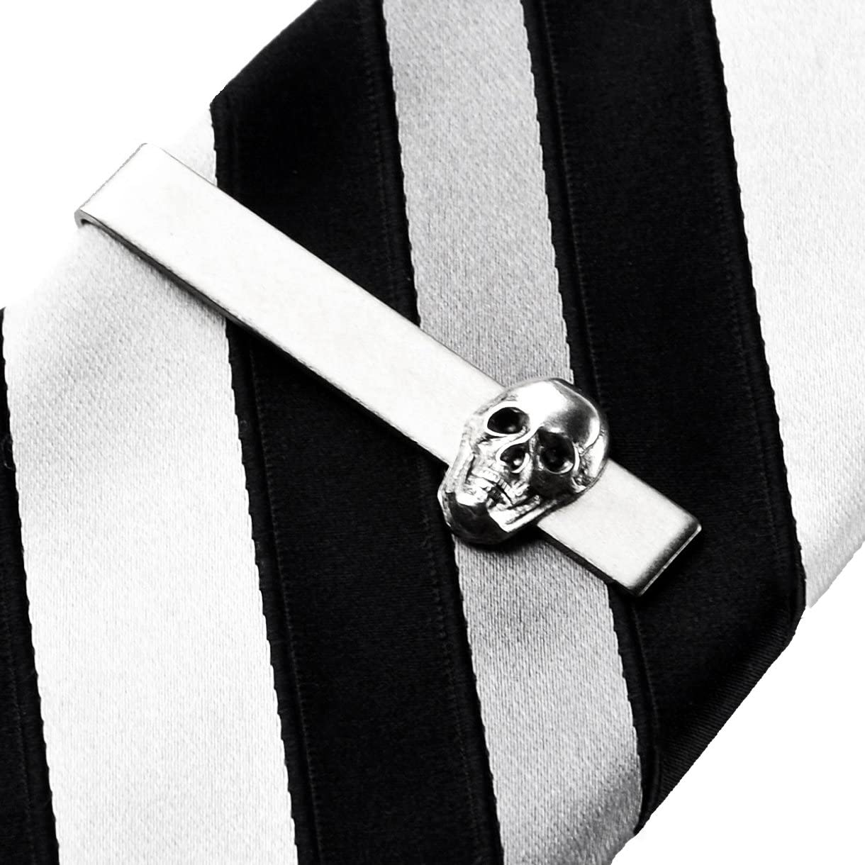 Quality Handcrafts Guaranteed Skull Tie Clip