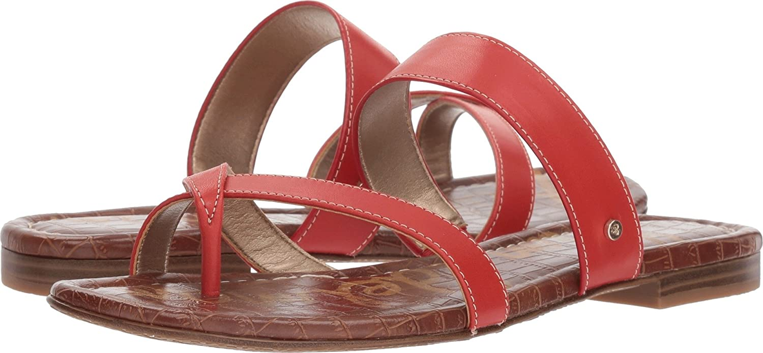 Sam Edelman Women's Bernice Slide Sandal B078SVFW2X 7 W US|Candy Red Vaquero Saddle Leather