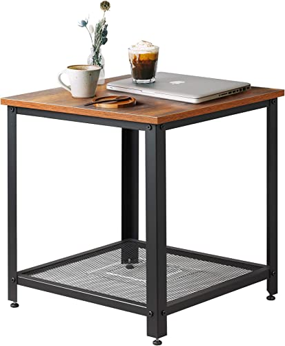 M W Rustic Square End Table - the best living room table for the money