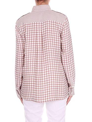 Equipment Q2799e882abeige Amazon Camisa Mujer Seda Beigeblanco es rRqfrwP