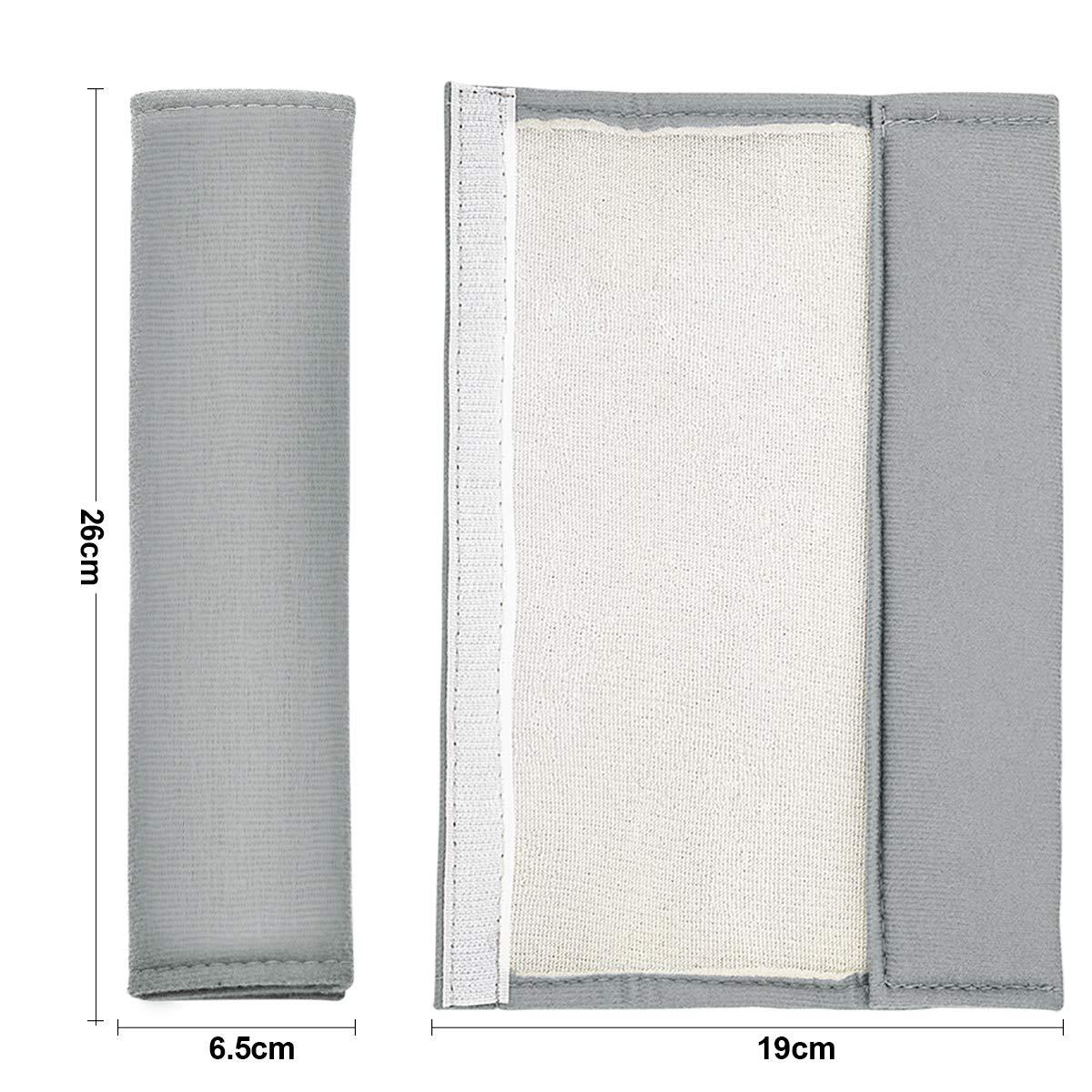 Estilo-1, Gris Aitsite Almohadillas de Cintur/ón de Seguridad de 4 Paquetes Cubierta de Correa de Asiento para Adultos y Ni/ños