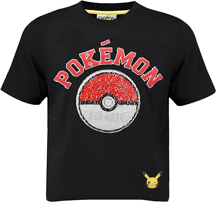 Pokèmon Camiseta Pikachu | Camiseta Lentejuelas Reversibles para ...