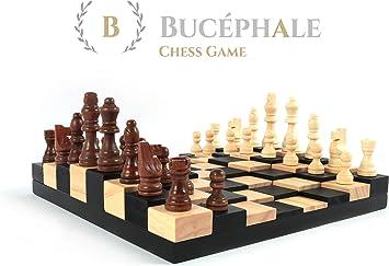 Bucephale Juego de ajedrez de Madera para Adultos con diseño Original en 3D Calidad Tablero peones de ajedrez Original Idea de Regalo Hombre Mujer Padres Padre niños: Amazon.es: Juguetes y juegos