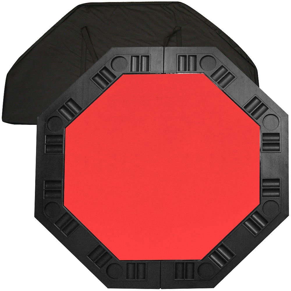 Amazon.com : Trademark Poker 48 Inch 8 Player Octagonal Poker Tabletop  (Red) : Poker Table Tops : Sports U0026 Outdoors
