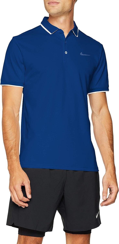 Nike M Nkct Dry Team Polo Shirt de Tenis, Hombre, White/(Indigo ...