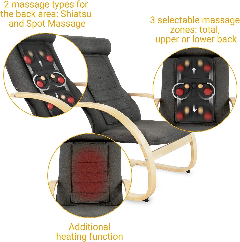 Naipo Shiatsu Massagesessel mit Wärmefunktion