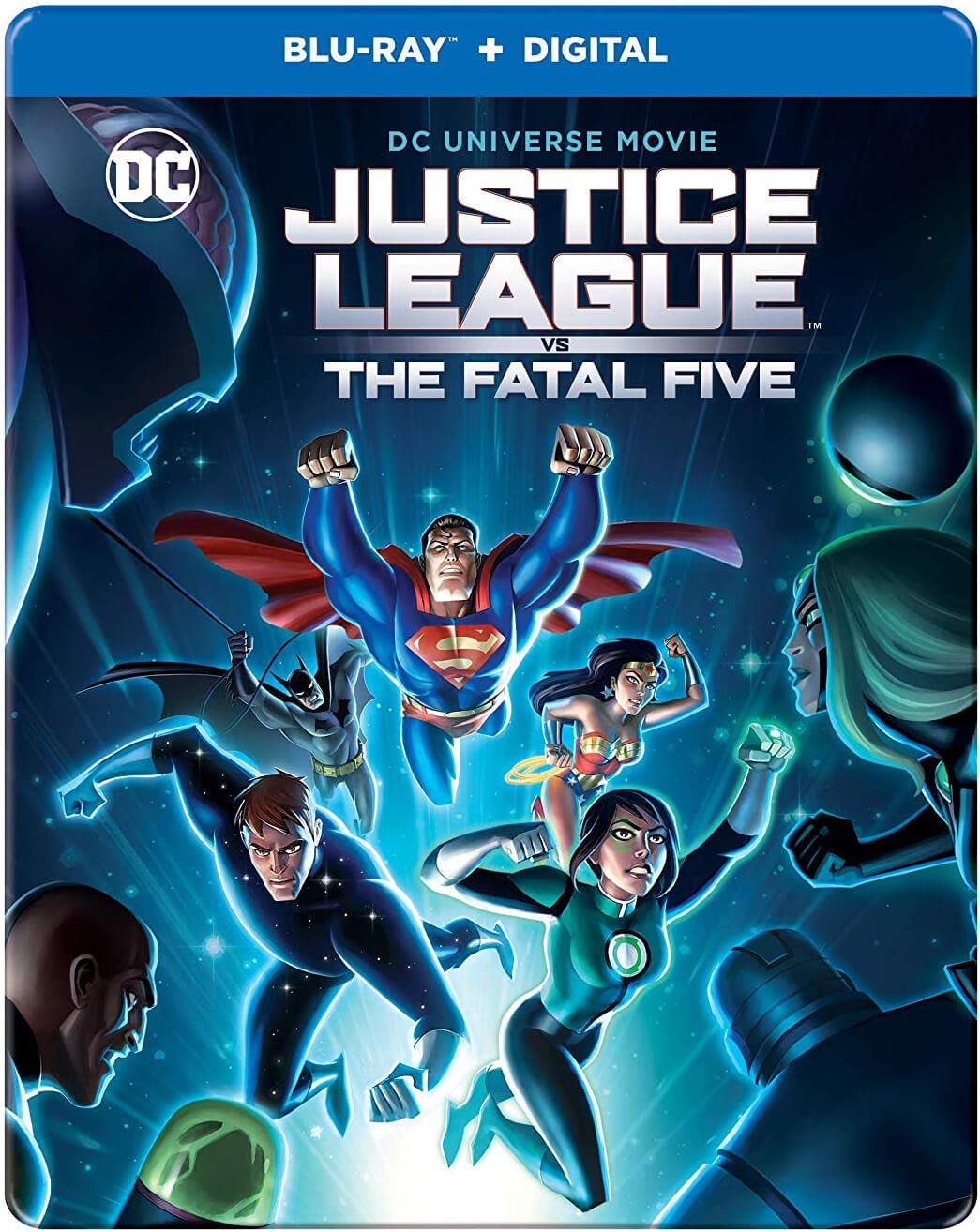 Amazon Com Justice League Vs The Fatal Five Blu Ray Dvd Digital Copy Steelbook Dc Universe Target Limited Edition U S Release Movies Tv