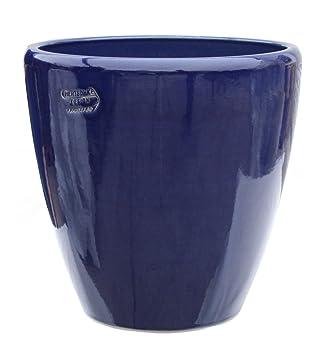 Pot De Fleur Bleu O 30 X 30 Cm Avec Trou De Drainage Forme