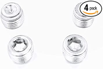 2 of each size Inverted flare steel plugs for 9//16-18 /& 1//2-20