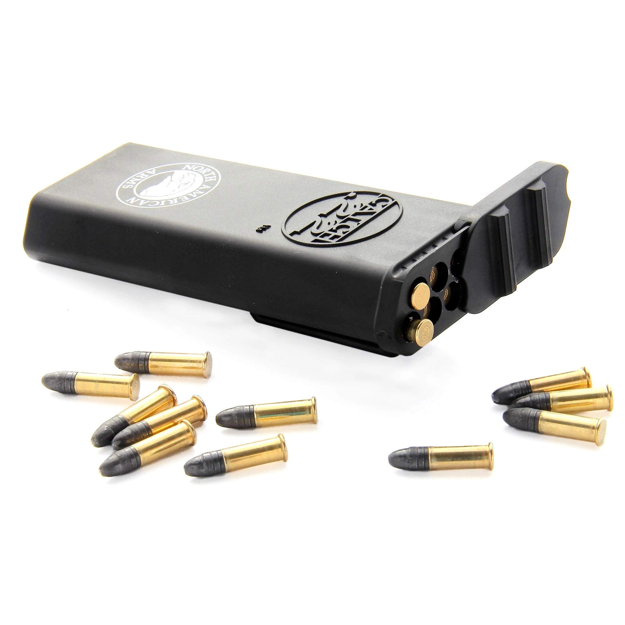 Catch 22 Ammo Carrier, Belt Clip, Holds 50 Rounds of .22 Long Rifle, 70 Rounds of .22 Short or 30 Rounds of .22 Magnum