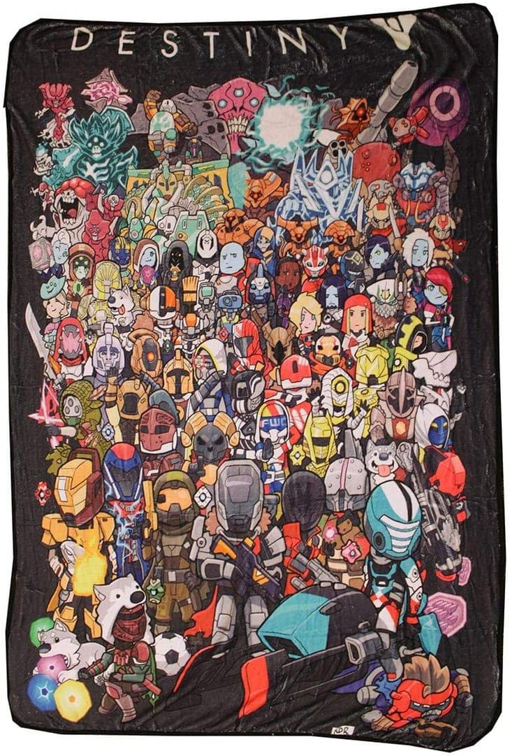 Surreal Entertainment Chibi Characters Fleece Throw Blanket | 45 x 60| Destiny Collectors Edition