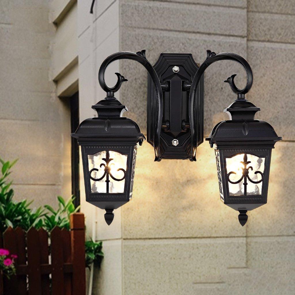 CKH Lampada da parete per esterno doppio impermeabile da giardino con lampada da esterno