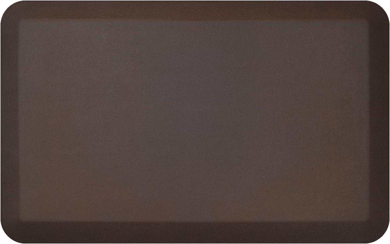 "GelPro NewLife Designer Comfort Ergo-Foam Anti-Fatigue Kitchen Floor Mat, 20""x32"", Leather Grain Truffle"