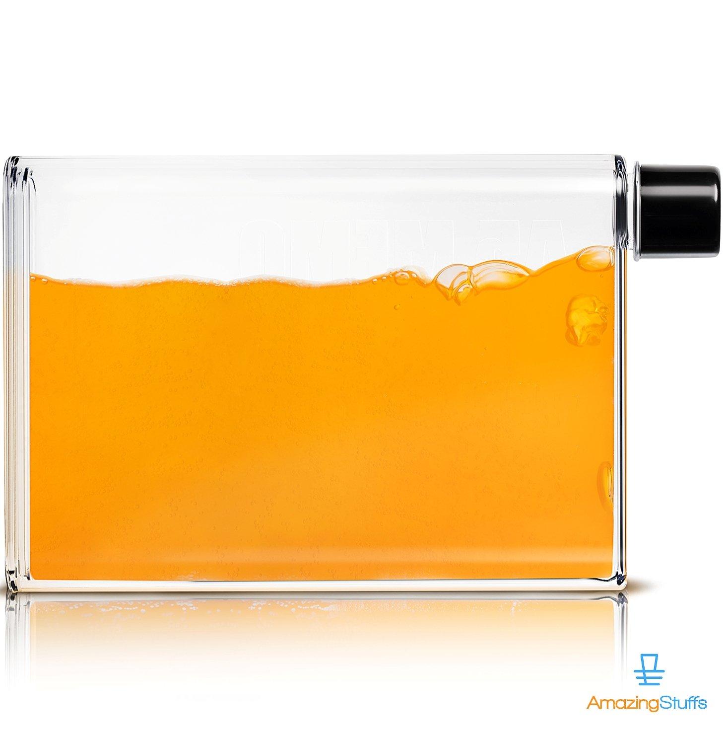 最新入荷 クリア再利用可能な小さな飲料水ボトルプラスチック – BPAフリー –、Leakproof , Refillable – Clean Kidフラットメモ型スリムシンフラスコ – Clean Best forスポーツ、旅行、学校ランチボックスバッグwith Wide Mouth Funnel A6 (350ml) B077Z618FP, ヒメシマムラ:e192e2a9 --- a0267596.xsph.ru