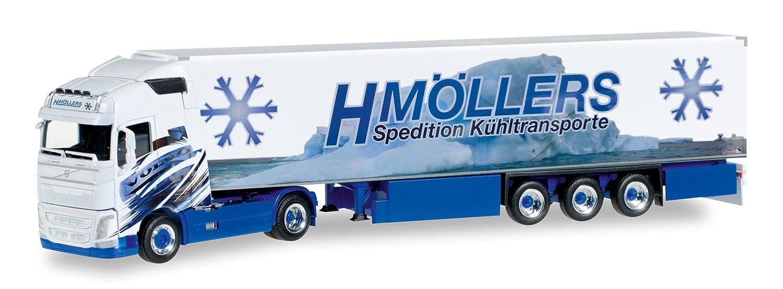Neu Herpa 307079-1//87 Volvo Fh Gl Kühlkoffer-Lkw Blau//Weiss