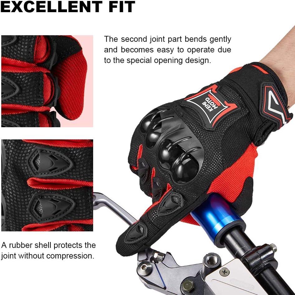 Guantes Moto Verano para Hombre Mujer con Pantanlla Tactil Guantes Moto Transpirables con Proteccion para Entretiempo