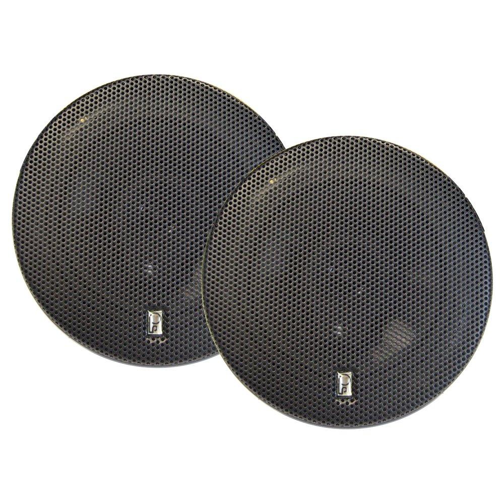 PolyPlanar 6'' Titanium Series 3-Way Marine Speakers - (Pair) Black