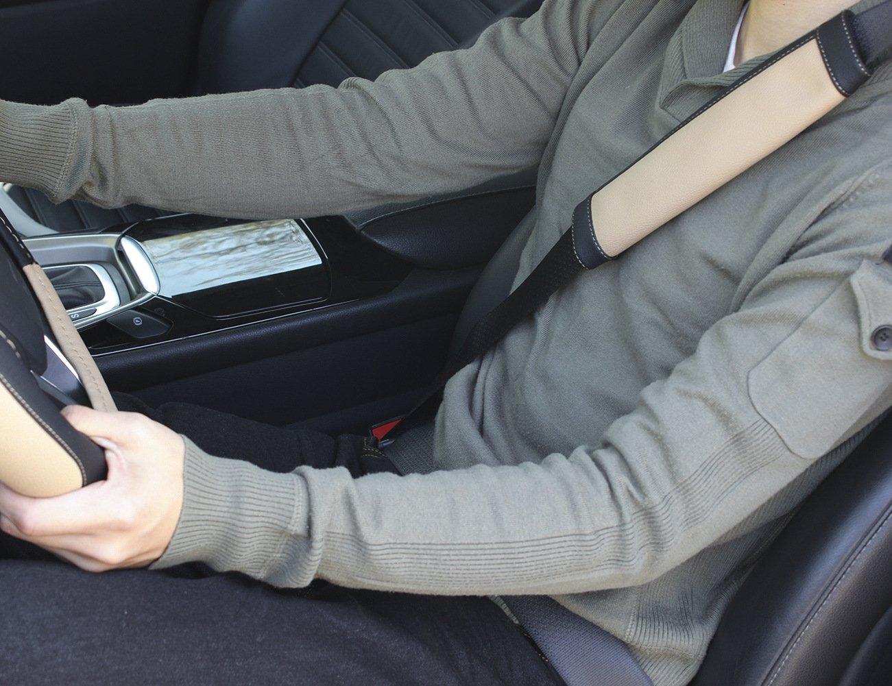 SEG Direct Black Seat Belt Pads Pack of 2